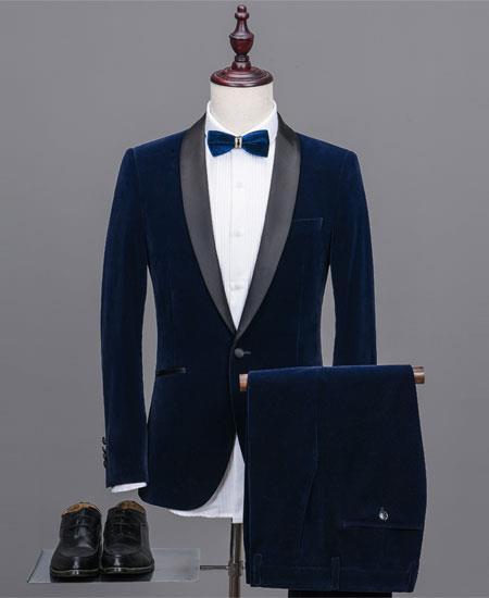 Blue Velvet Suit