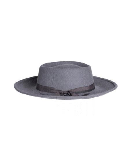 Mens Wide Brim Fedora