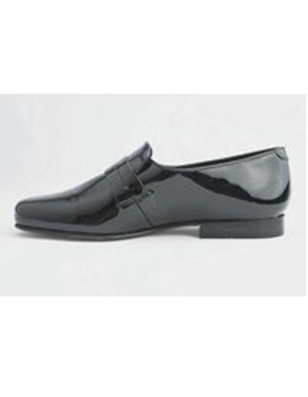 Mens Leather Sole Slip