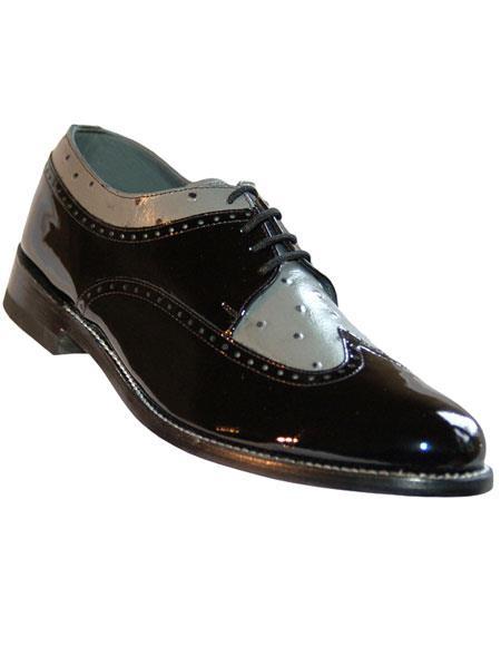 Product# EK41 Men's Genuine Patent Lace Up Cushion Insole Shoes
