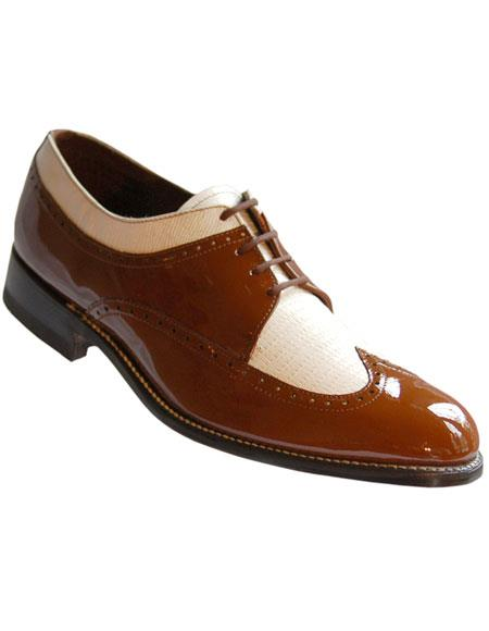 Mens Leather Sole Wingtip