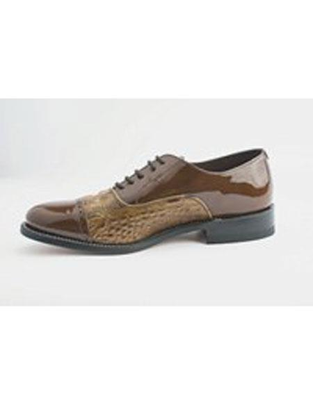 Mens Leather Sole Brown