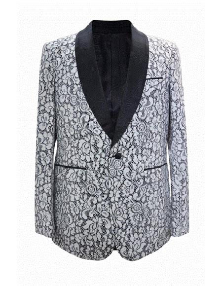 Product# EK66 Floral ~ Flower Print Novelty Holiday Mens Blazer Crazy Sport Coat  White Funny Dinner Christmas Fuchsia Jacket