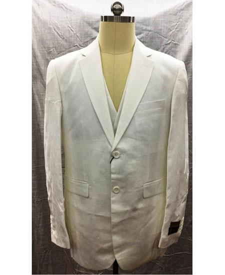 Mens White 2 Button