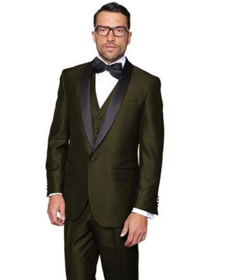 Mens Olive Green Single