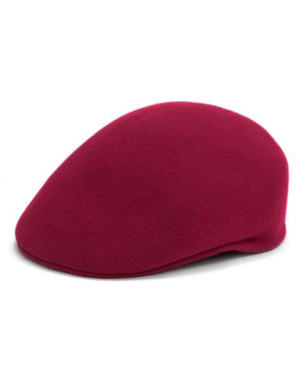Product# GD1878 Men's Classic Wool Light Burgundy English Flat Cap Hat