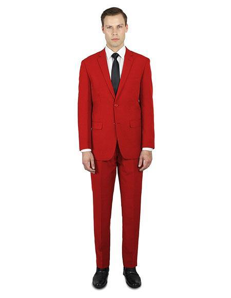 Men's single breasted Alberto Nardoni stylish red suit