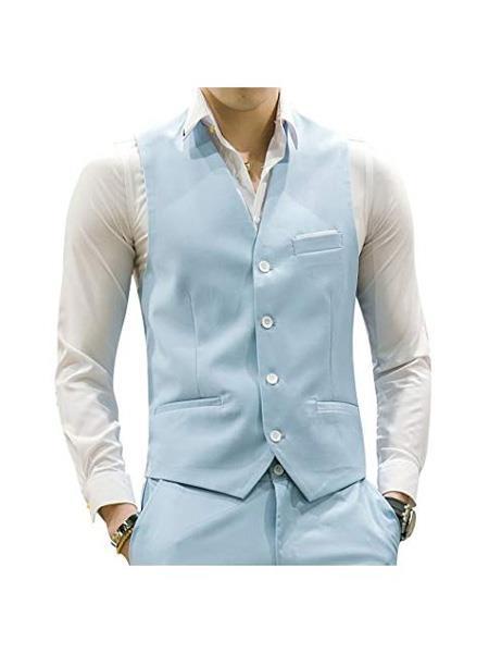 Mens Matching Waistcoat Causal