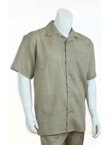 Mens 100% linen Casual