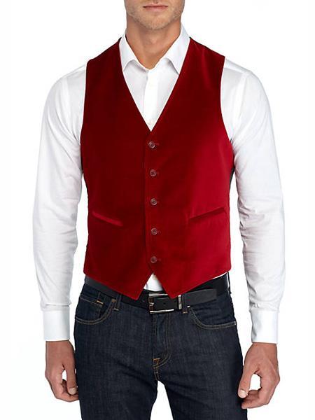 men's Vest Red