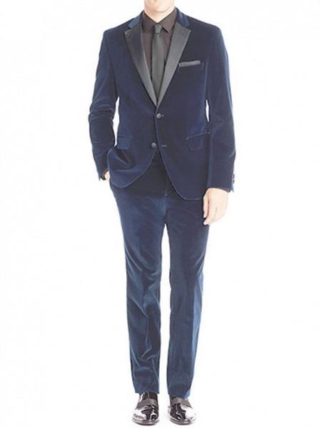 Mens Velvet Blue Tuxedo