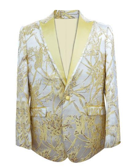 Product# JA421 men's Cheap Fashion big and tall Plus Size Sport coats Jackets Blazer ~ Suit Jacket For Guys Gold
