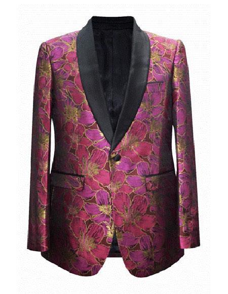 men's Cheap Fashion big and tall Plus Size Sport coats Jackets Blazer For Guys Fuchsia