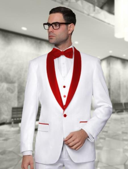Product# JA444 men's Cheap Fashion big and tall Plus Size Sport coats Jackets Blazer For Guys White