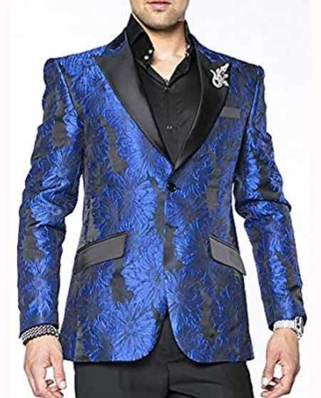 Product# JA449 men's Cheap Fashion big and tall Plus Size Sport coats Jackets Blazer For Guys Blue