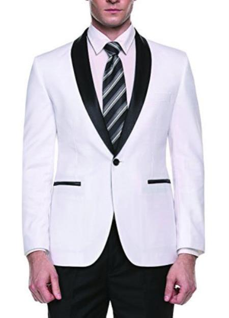 men's Cheap Fashion big and tall Plus Size Sport coats Jackets Blazer For Guys White