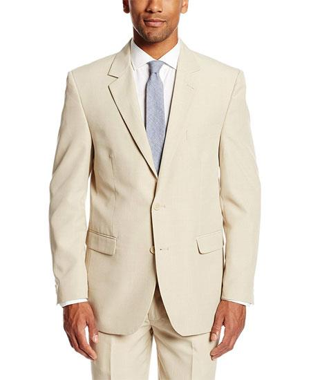 Mens Tan Vest Suit