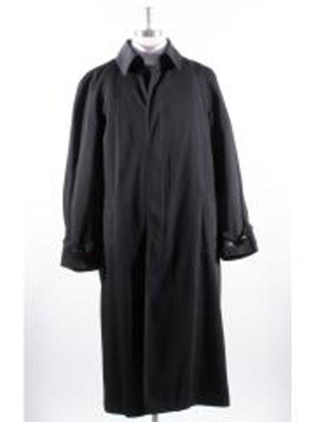 men's Big And Tall Trench Coat Raincoats Overcoat Topcoat 4XL 5XL 6XL Black