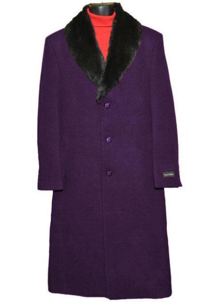 Product# MO732 Mens Big And Tall Trench Coat Raincoats Overcoat Topcoat 4XL 5XL 6XL Dark Purple