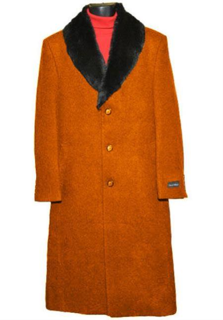 men's Big And Tall Trench Coat Raincoats Overcoat Topcoat 4XL 5XL 6XL Rust