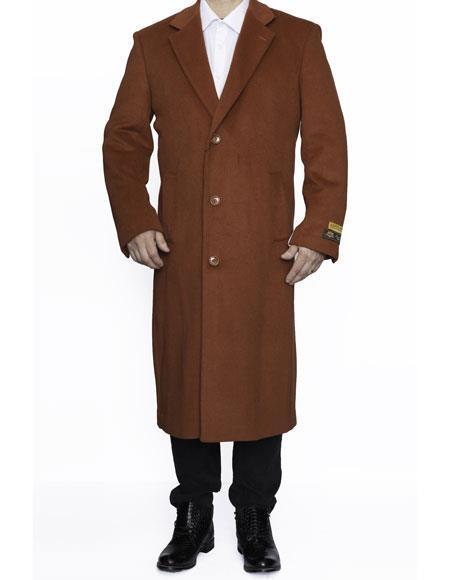 Product# MO742 Mens Big And Tall Trench Coat Raincoats Overcoat Topcoat 4XL 5XL 6XL Rust
