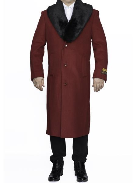 Product# MO746 Mens Big And Tall Trench Coat Raincoats Overcoat Topcoat 4XL 5XL 6XL Red