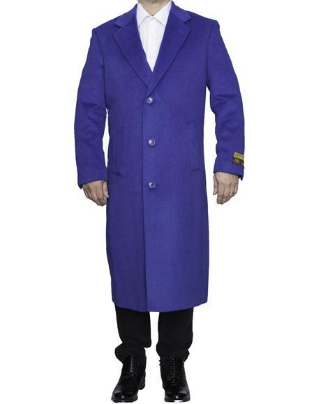 men's Big And Tall Trench Coat Raincoats Overcoat Topcoat 4XL 5XL 6XL Royal Blue