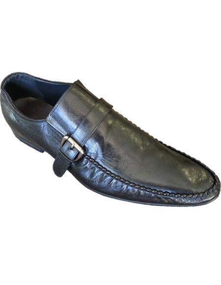 Mens Leather Slip On