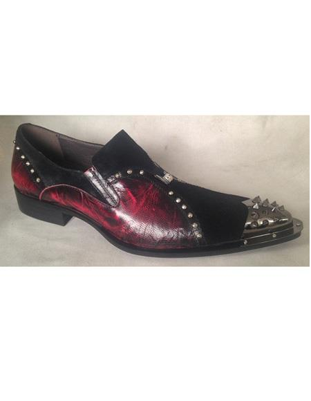 Mens Black ~ Burgundy