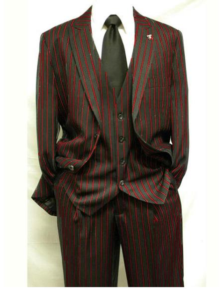 Product# EK227 Men's Single Breasted Vest Two Button Notch Lapel Black ~ Dark Red Suit For Men Perfect For Prom