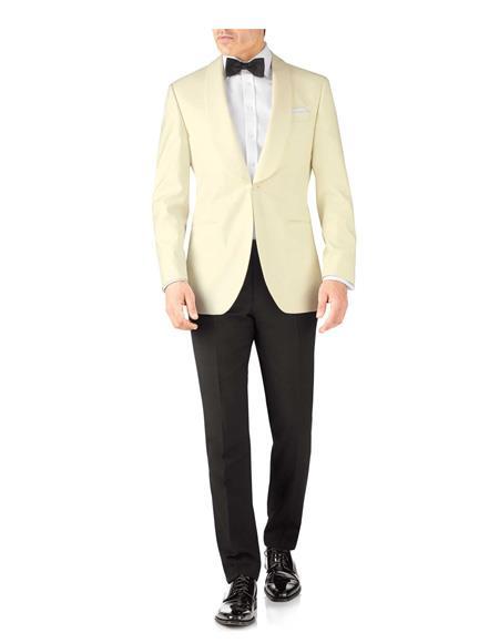 Men's Slim Fit Shawl Lapel Single Breasted Tuxedo One Button