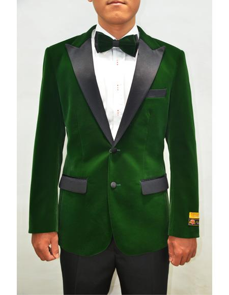 Mens Blazer Green