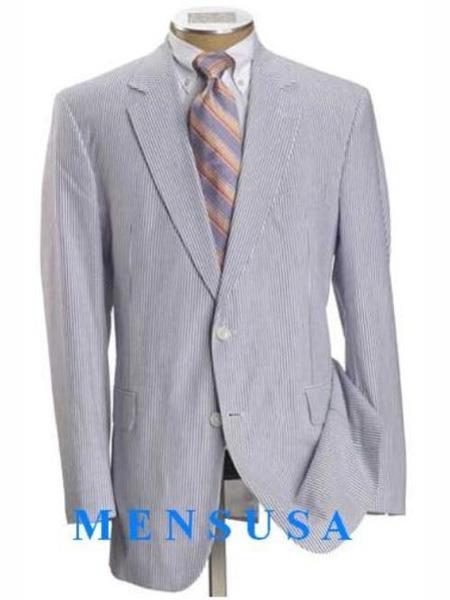 Causal White & Light Blue ~ Sky Baby Blue Pinstripe Cheap priced men's Seersucker Suit Sale ~ sear sucker ~ sear sucker