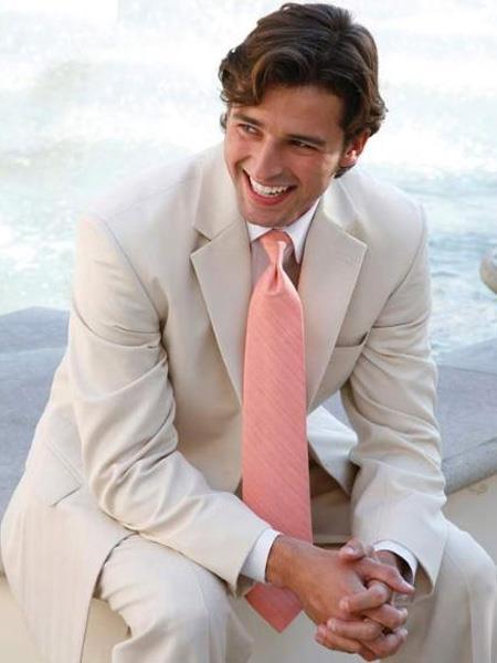 men's Light Tan ~ Beige 2 Button Wedding Suit ( Jacket and Pants)  For Men Separate Any Size Jacket & Pants