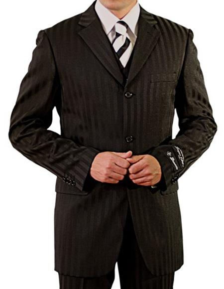 Product# EK266 Men's Single Breasted Notch Lapel Three Button Vest Suit