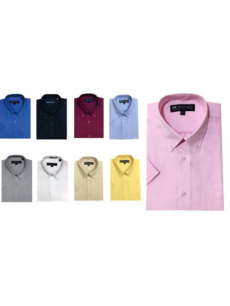 Button-down point collar Oxford