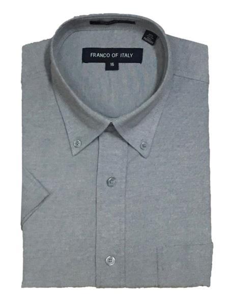 Mens Short Sleeve Button