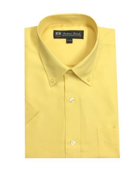 Oxford Yellow Button-down point