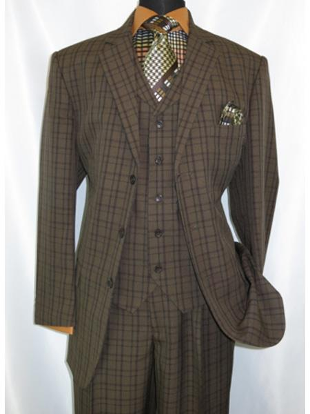 1920s Windowpane pattern notch