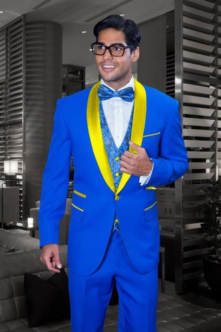 Mens Royal Blue Suit