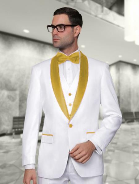 Mens White and Gold