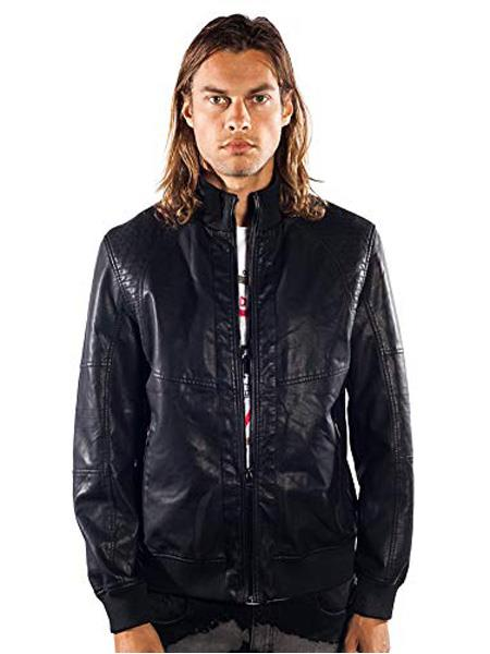 Product# SR279  Mens Barabas Dodge Regular Fit  Black Jacket