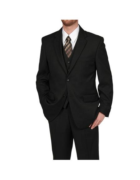 Product# EK296 Mens Single Breasted Black Polyester Two Button Classic Fit Suit Separates Any Size Jacket Any Size Pants