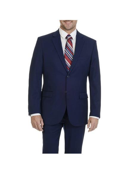 Mens Blue Two Button