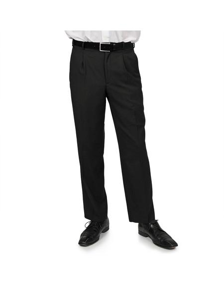 Mens Black Two Front
