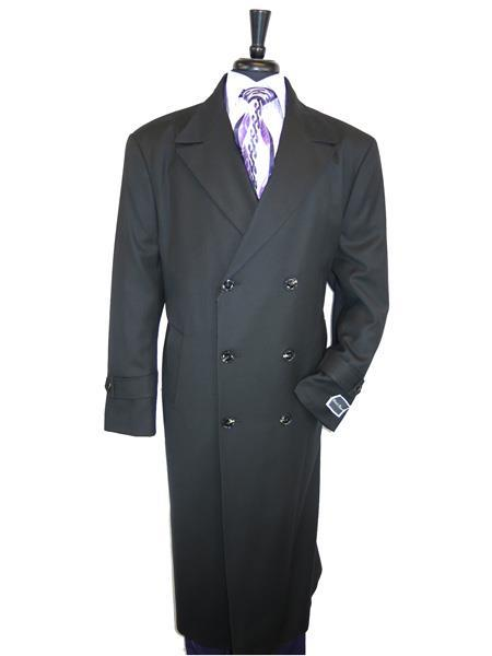 Product# SR298 Mens Big And Tall Wool Overcoat Topcoat Outerwear Coat Up to Size 68 Regular Fit