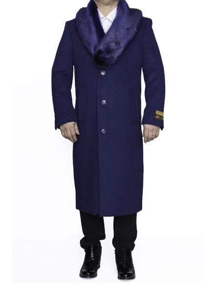 Product# SR300 Mens Big And Tall Wool Overcoat Topcoat Outerwear Coat Up to Size 68 Regular Fit