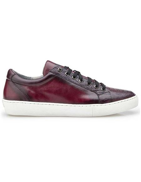 Mens Lace Up Ostrich