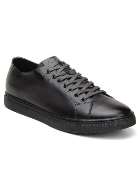 Mens Lace Up Charcoal