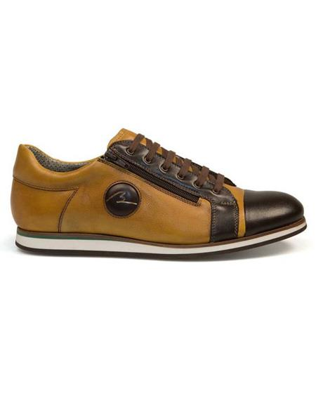 Mens Brown Lace Up